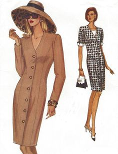 90s Very Easy Very Vogue Sewing Pattern 8561 Womens by CloesCloset