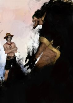 obedience by on DeviantArt One Piece Vs, One Piece Anime, Blackbeard One Piece, Pokemon Realistic, Another One, Drawing Skills, Weird World, Anime Shows, Your Paintings