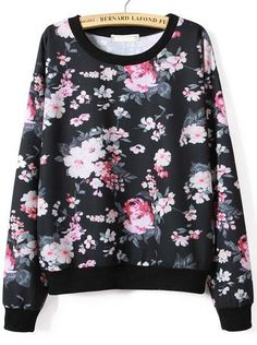 Floral Print Loose Sweatshirt 16.67