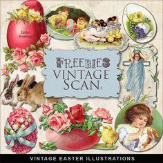 Far Far Hill-Freebies Vintage Easter Vignettes