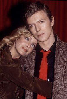 "night-spell: "" David Bowie and Sydne Rome at the press conference during Just a Gigolo promotion, Cafe Royal, London, February 14, 1979 """
