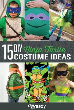15 DIY Ninja Turtle Costume Ideas: Cowabunga! | Cute And Creative Halloween Costumes by DIY Ready at http://diyready.com/diy-ninja-turtle-costume-ideas/