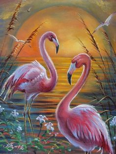 Das Foto - painting ideas on canvas Flamingo Painting, Flamingo Art, Art Drawings Sketches, Wildlife Art, Acrylic Art, Animal Paintings, Bird Art, Beautiful Birds, Art Pictures