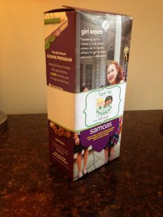 Girl Scouts: Cookie Box Wrap Thank Yous - FREE Printable