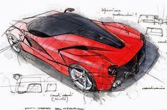 #Ferrari LaFerrari sketch by design director Flavio Manzoni.  https://formtrends.com