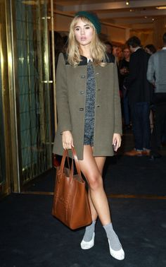 Didn't know who this gal was but she looked super cute at the Mulberry party last night.