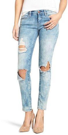Women's Blanknyc Good Vibes Distressed Skinny Jeans