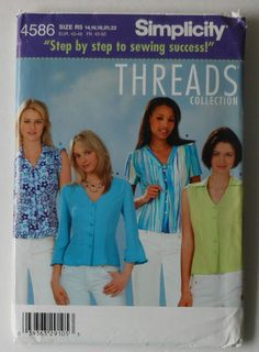 Blouse Sewing Pattern UNCUT Simplicity 4586 by latenightcoffee