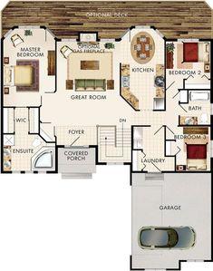 Amberwood Floor Plan. 1503 sq ft. Stairs up for bonus rm?
