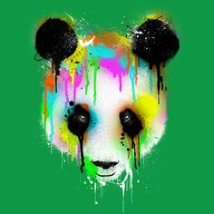 Technicolour Panda is a T Shirt designed by dzeri29 to illustrate your life and is available at Design By Humans