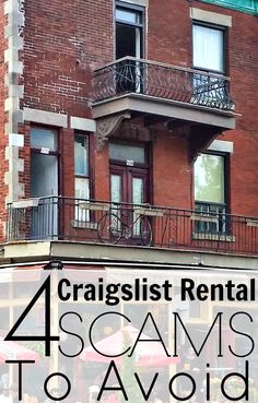 4 Craigslist Rental Scams To Avoid – Making Sense Of Cents. You can find rental scams everywhere (Craigslist, Zillow, and more), and many people are duped every single day out of hundreds or sometimes thousands of dollars.