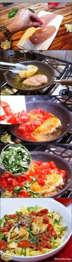 Tomato Basil Chicken - over 400K people can't be wrong!  This step-by-step photo recipe is a huge hit with families, date  night, and company.. and comes in under 30 minutes with all fresh ingredients. - use ghee instead of better to make this paleo