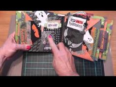 ▶ Project Share~Two Halloween Scrapbook Albums TP mini & Paper Bag Mini - YouTube