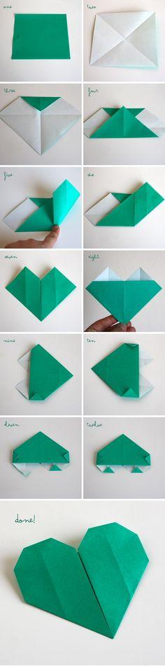 Simple Origami Heart Garland | Mama. Papa. Bubba.