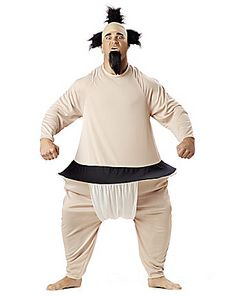 Sumo costume for adults: This sumo costume for adults includes a jumpsuit and a hat. (Beard not included.)The sumo wrestler outfit will be ideal for wearing at a funny fancy dress costume party! Sumo Wrestler Halloween Costume, Bad Halloween Costumes, Funny Adult Costumes, Theme Halloween, Halloween Stuff, Female Costumes, Men's Costumes, Crazy Costumes, Up Dos