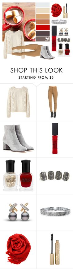 """I Love Hot Chocolate"" by i-love-tennis ❤ liked on Polyvore featuring A.P.C., Gianvito Rossi, Maybelline, Deborah Lippmann, Bling Jewelry, Gearonic, Stila, love, chocolate and HotChocolate"