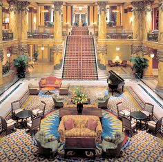 """The Jefferson Hotel - The """"Gone With the Wind"""" staircase- Richmond VA"""