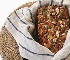 Gluten-free bread with pumpkin seeds and almonds