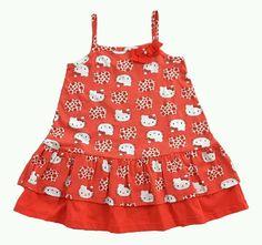 Vestidinho de alças Hello Kitty