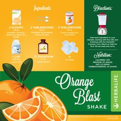 EN Herbalife Infographic Orange Blast Shake Recipe [Infographic] #Herbalifeshakerecipe #Herbalife #Infographics #herbaliferecipes https://www.goherbalife.com/shedpounds