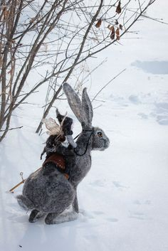Fantasy | Magical | Fairytale | Surreal | Enchanting | Mystical | Myths | Legends | Stories | Dreams | Adventures | Hare rider - Winter's Children — by Lavender & Lark