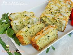 Plumcake+salato+con+zucchine+basilico+e+ricotta