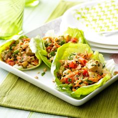 Thai Chicken Lettuce Wraps Recipe -This recipe is so flavorful and fresh tasting. The teachers and staff at my school love it because it's fun to put together. —Laureen Pittman, Riverside, California