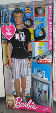 It's like the gayest doll ever! Thank U MATTEL®    Barbie® ♥s Paul Frank Ken® Doll.    2012.    D.R.    Image from MANBEHINDTHEDOLL.COM