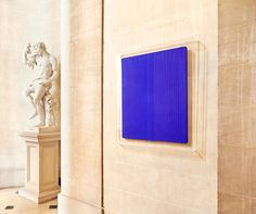 Installation view, Blenheim Palace, Yves Klein, Untitled Blue Monochrome Courtesy of Blenheim Art Foundation, photo by Tom Lindboe Woodstock, International Klein Blue, Nouveau Realisme, Monochrome, Yves Klein Blue, Baroque Decor, Blue Artwork, Blenheim Palace, Expositions