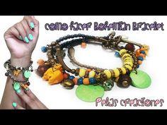 Como hacer una Pulsera Bohemio Style! : Pekas Creaciones - YouTube