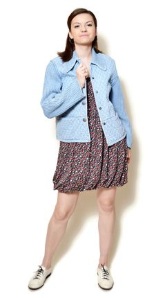 quilted jacket outfit womens  US$69.95