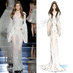 zuhair.murad fashion illustrations - Google Search