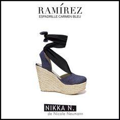 Espadrilles Ramirez Nikka verano 2015 modelo Carmen bleu disponible en tienda Ramirez Peru 587 y en nuestro Showroom Humboldt 1550 of 111 #ramirez #nikka #crueltyfree #espadrilles #carmen #zapatos