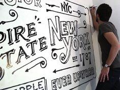 Ace Hotel  by Dan Cassaro #typography #mural