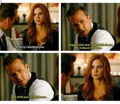 This entire scene was perfection. Can't stop watching it! #Suits #Darvey