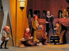 Inside Jabba's Palace - Art by Ralph McQuarrie