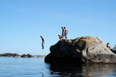 Bathing in Risør archipelago. Beautiful Norway, Norse Vikings, Archipelago, Bathing, Places, Water, Sports, Summer, Outdoor
