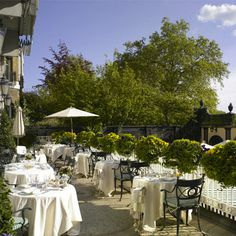 The outside terrace at The Ritz, London