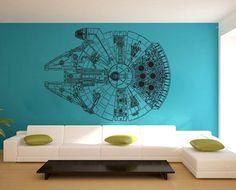 Star Wars Millennium Falcon V3 Vinyl Wall Art Decal by dinaamon