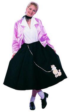 Purple Poodle Skirt 50s Scarf Sock Hop 1950s Retro Grease Sandra Dee Adult