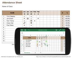 Attendance Sheet For Employees Excel  Attendence