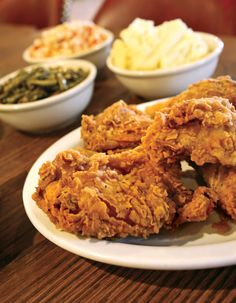 Family-style fried chicken is the specialty at the Silver Bell restaurant in St. Wendel, Indiana.