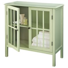 Windham Two-Door with drawers Storage Cabinet banana split ...