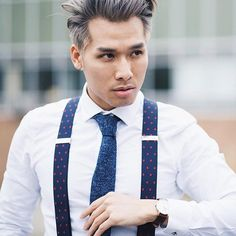 Back to business on Monday for @datswhatupp in his #weekendcasual suspenders courtesy of @sprezzabox by weekendcasual