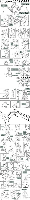 Legend of Korra - Little Fan :Bolin Comic: by ~lledra on deviantART// this gave me lots of feels.