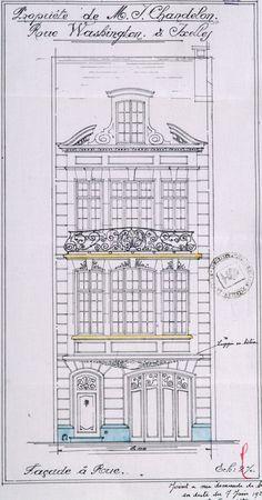 Ixelles - Rue Washington 140, 142, 144 - JANLET Léon