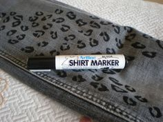 Jazz up an old pair of jeans with DIY Leopard Print using a Shirt Marker  - Tutorial