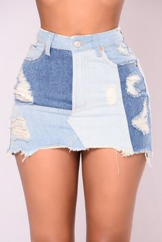 Tucson Denim Skirt - Blue
