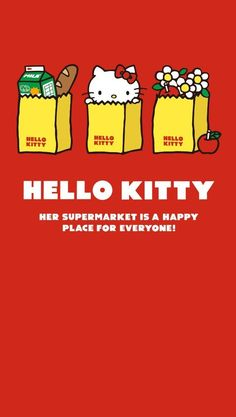 Hello Kitty Backgrounds, Hello Kitty Wallpaper, Kawaii Wallpaper, Cartoon Wallpaper, Hello Kitty Pictures, Kitty Images, Cute Illustration, Character Illustration, Hello Kitty Imagenes