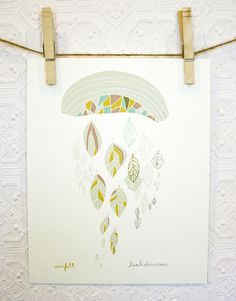 Rainfall Stitched and Signed Print 8 x 10 by leahduncan on Etsy, $24.00